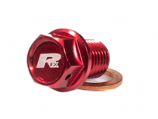 RFX Magnetic Drain Bolt (Red) [M12 x 15mm x 1.25] Honda CR85 03-07 CR125/250 02-07 Yamaha YZ250 97-2